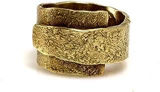 anello in ottone martellato fatto a mano artigianale uomo donna stile antico