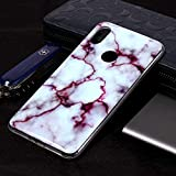 Jiangym Mobile Phone Soft Cases Marble Pattern Soft TPU Case for Xiaomi Redmi S2(Plum Blossom) Soft Cases (Color : Red)