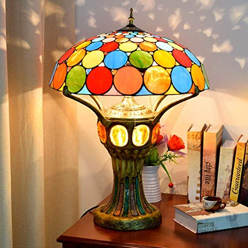 Kreative Mode Europäische Kreative Tischlampe Tiffany Style Glasmalerei Gehobene Wohnzimmer Bar Front Lobby Dekoration Große Tischleuchte 50 * 68Cm Novelle, HJY