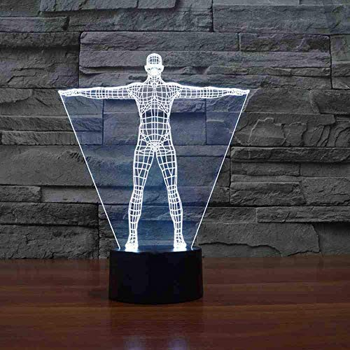 3D Led Man Moulding Table Lamp 7 Colors Night Lights USB Lampara Baby Bedside Sleep Lighting Novelty Bedroom Decor Kids Gifts