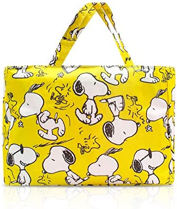 Finex Yellow Snoopy and Woodstocks Waterproof PVC Rectangular Hand Carry Diaper Bag Tote with product image