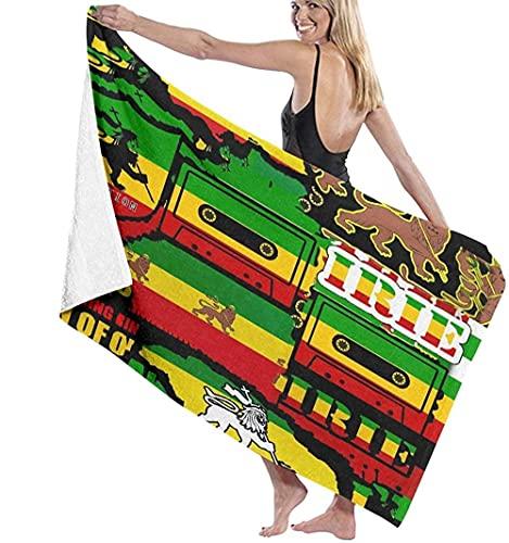 Toalla De Playa Microfibra,El León De Judá Rasta Rastafari Jamaica Reggae Toalla De Playa Ligera Viajes Familiares En Hoteles Natación Deportes De Fitness