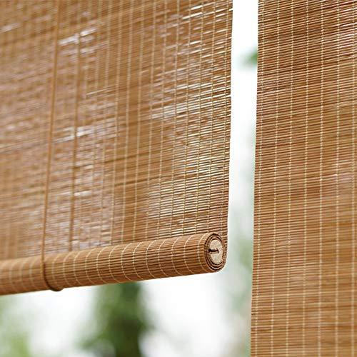 Bambusrollo, Bambusjalousie mit Schnur, Holzrollo für Patio-Studienfenster, natürliches Wegefilterlicht - Kirschholzfarbe (Size : W150cm X H250cm)