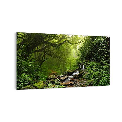 DekoGlas Küchenrückwand 'Dschungel Wasserfall' in div. Größen, Glas-Rückwand, Wandpaneele, Spritzschutz und Fliesenspiegel