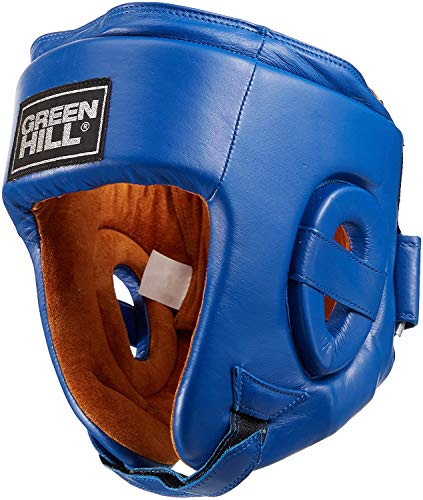 GREEN HILL Casco DE Boxeo HOMOLOGADO AIBA Abierto Boxing Amateur Combate APROVADO AIBA (M, Azul)