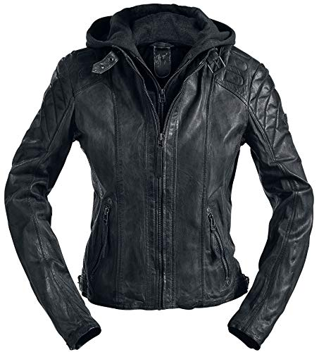 Gipsy Chasey Frauen Lederjacke schwarz 3XL 100% Leder Casual Wear, Rockwear