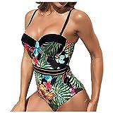 YANFANG Conjunto de Bikini de Encaje sólido para Mujer Push up Ropa de Playa Traje de baño Acolchado,Bikini de Moda de Verano Push Up Traje de baño Acolchado