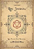 RPG Journal Mixed Paper: Ruled, Graph, Hexagon and Dot Grid | Role Playing Game Companion Old Paper Cover (Dungeon RPG Game Series)