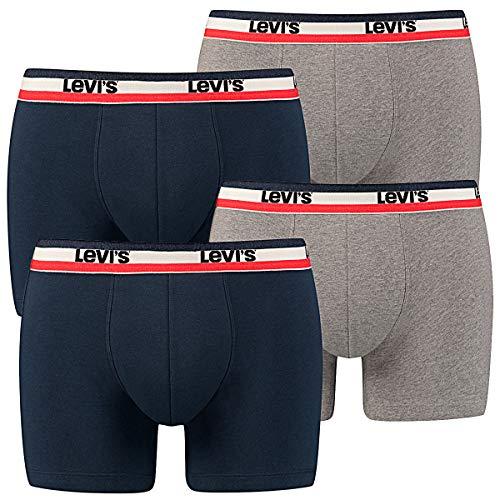Levis Herren Boxer Brief Color 4er Pack, Größe:XL, Farbe:Dress Blues (198)