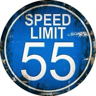Smart Blonde Speed Limit 55 Novelty Metal Circular Sign C-722