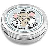 FANS & Friends Caja para dientes de leche para niños y niñas, e-book gratis incluido, Caja para guardar los dientes de bebés, el Ratoncito Pérez (azul)