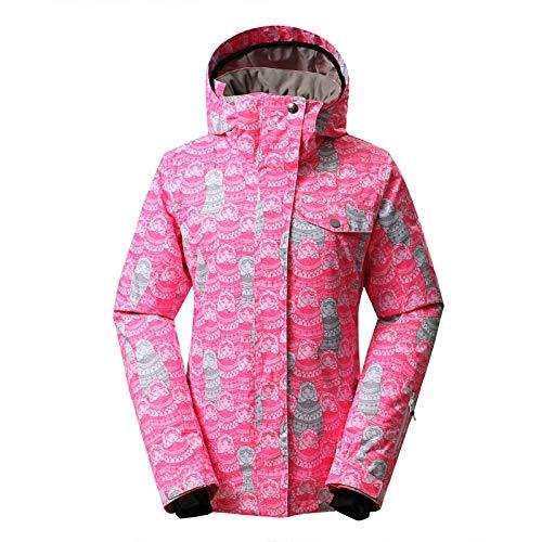 Traje de esquiar Esquí de las mujeres Traje al aire libre a prueba de viento impermeable Junta Caliente Individual Doble transpirable chaqueta de esquí for las mujeres del tamaño XS-L Ropa de nieve
