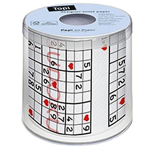 Paper + Design 00165 Toilettenpapier, 200 Blatt, Schwarz, Rot, Weiß
