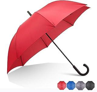 RUMBRELLA Red Hook Handle Umbrella Windproof, j Umbrellas Auto Open 54IN