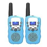 Walkie Talkies para NiñOs - 2 Piezas Mano Juguete de Radio Bidireccional Pantalla LCD Intercomunicador Transceptor para NiñOs y NiñAs de 8 a 12 AñOs Fuera de Aventuras CáMping(2)