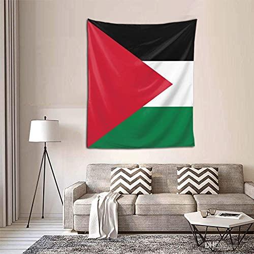 IUBBKI Bandera a Rayas de Tapiz palestino Arte de Pared Interior Colgante Ropa de Cama Tapices para el hogar Dormitorio Sala de Estar Dormitorio Decoración 60x51 Pulgadas