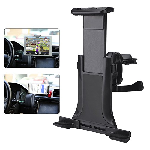 """MAYOGA Tablet Holder for Car Mount, Car Air Vent Mount, Tablet car Mount, Universal Tablet Stand Car Mount Compatible with 4-10.5"""" iPhone/Cellphone, Tablet/iPad pro, Mini, air 2/Galaxy Tab/Kindle"""