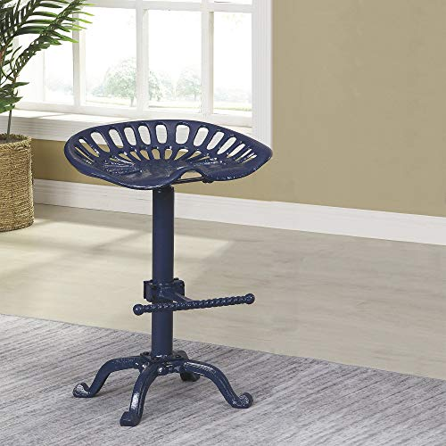 Carolina Forge Farmhouse Tractor Seat Stool - Farm House Blue