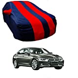 MotRoX Car Body Cover for BMW 320D with Side Mirror Pocket (Red & Blue)