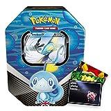Lively Moments Pokémon Galar Lata Box SCSH01 Espada y escudo Memmeon con Intelleon V Inglés EN / Caja de metal + Tarjeta de felicitación gratis