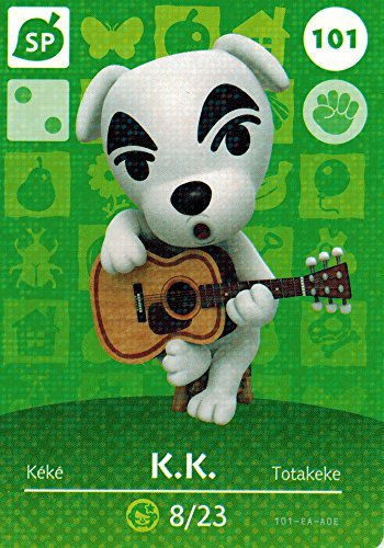 Nintendo Animal Crossing Happy Home Designer Amiibo Card K.K. Slider 101/200 USA Version by Nintendo