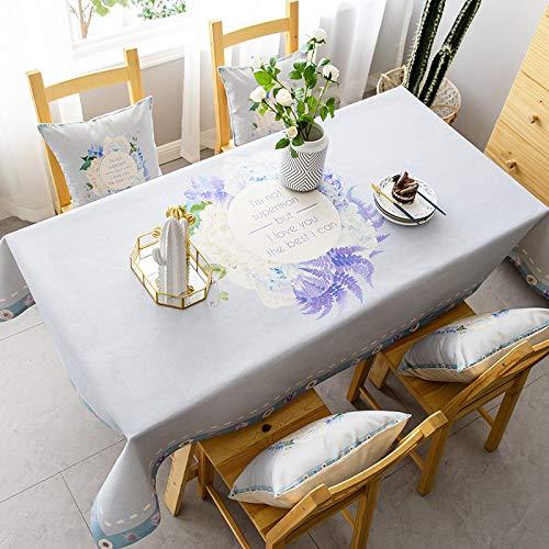 LYDCX Nordic Pastoralen Stil wasserdichte Tischdecke Baumwolle Und Leinen Frische Rechteckige Kaffeetischabdeckung Handtuch Tischdecke Tischdecke Tischdecke D 140X200Cm