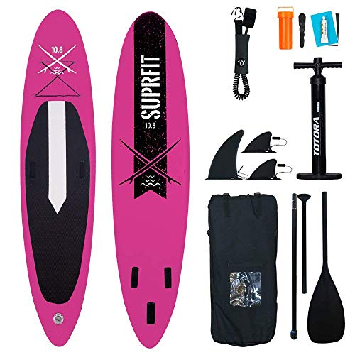 Suprfit Halia Black SUP Board I Stand up Paddle Board I Komplettset: Paddelboard, Transporttasche,...