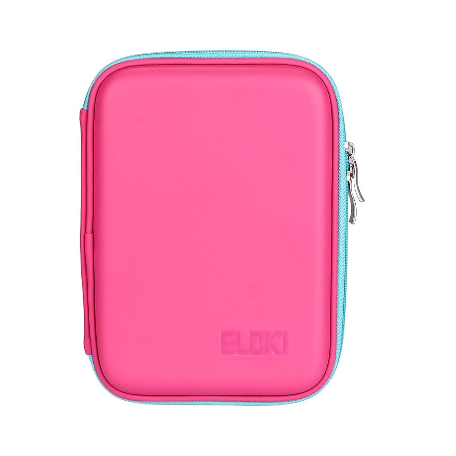 韻レーザ負荷ELOKI 鉛筆収納ケース 折り畳み 48本入れ PUレザーケース ペンケース 学校、オフィスなどに人気 2色選択可(ピンク)