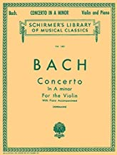 Concerto in A Minor: Schirmer Library of Classics Volume 1401 Score and Parts (Schirmer's Library of Musical Classics)