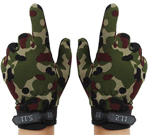 Aivtalk - Guantes completo dedo de pesca camuflaje caza carreras ciclismo de verano montaña