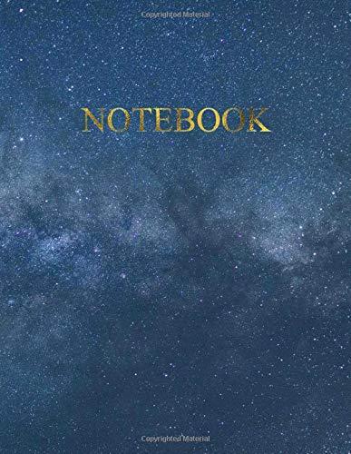 Notebook: Quaderno per appunti con 100 pagine bianche e numerate – Elegante copertina con Cielo Stellato e la Via Lattea – Misura A4 – Diario, Doddles, Schizzi, Disegni, Note, Memorie