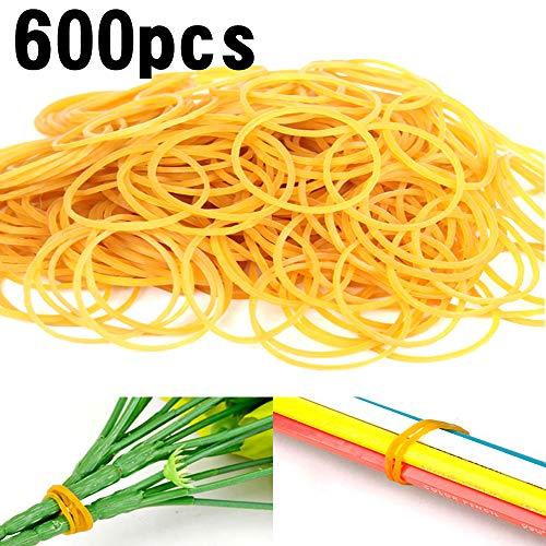 Homo Trends 600 bandas elásticas, bandas elásticas de goma elásticas para la escuela, el hogar, el banco, la oficina, manualidades industriales