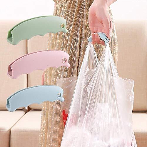 2 clips de silicona para bolsa de la compra para proteger las manos de viaje, con mango de bloqueo de herramientas para el hogar