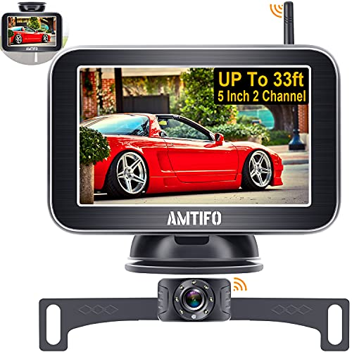 Wireless Backup Camera for Truck AMTIFO 5 Inch HD...
