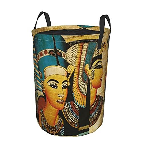 Cesta de almacenamiento, pergamino egipcio antiguo, cesto de lavandería grande plegable con asas 21.6'x16.5'