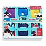 Fit + Fresh Fit & Fresh Set of 6 Ice Packs, Square, Hard + Soft Multi