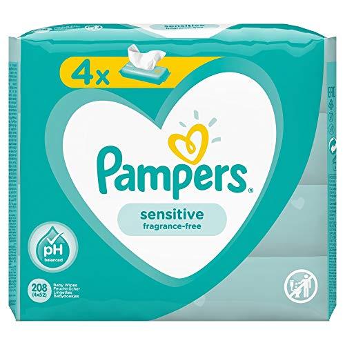 Pampers 81687197 Sensitive Baby Feuchttücher, weiß