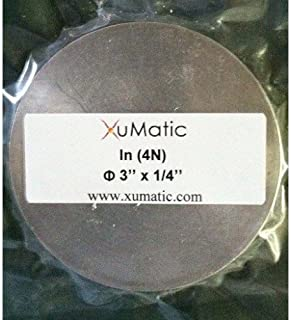 XuMatic XY-STIN, In Sputtering Target, Dia3'' x Th1/4'', 99.99%