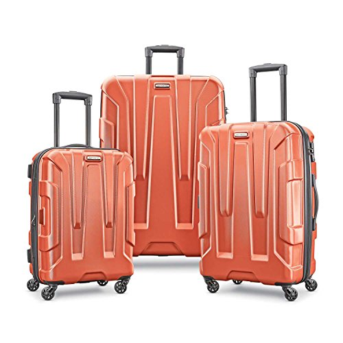 Samsonite Centric Hardside Expandable Luggage with Spinner Wheels, Burnt Orange, 3-Piece Set (20/24/28)