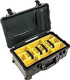 PELI 1510 Trolley Protectora rígida para cámaras de Fotos y de vídeo, IP67 estanca, 47L de Capacidad, Fabricada en Alemania, con divisores Acolchados, Color Negro