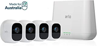Arlo Pro 2 - 4 Camera System, Work with Alexa, Inbuilt alarm siren, Rechargeable, Wire-Free, 1080p HD, Audio, Indoor/Outdo...