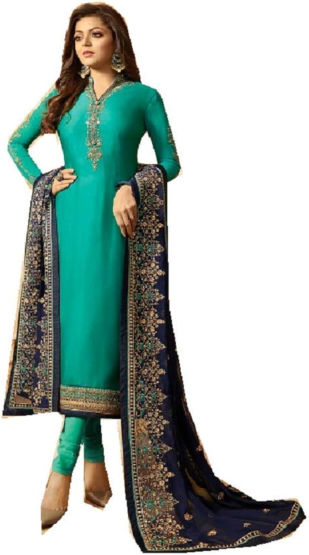 Delisa Designer Wedding Partywear Silk Embroidered Salwar Kameez Indian Dress Ready to Wear Salwar Suit Pakistani LTN