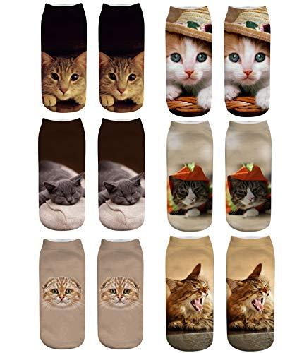 Longyangqk Damen Karikatur Tiere Charakter Socken Lustige Verrückte Motiv Witzig Socken Damen