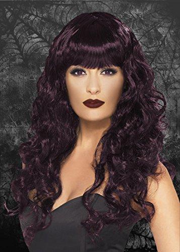 Mesdames gothique sirène prune bouclés perruque