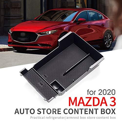 Caja De Almacenamiento De La Caja Del Reposabrazos Del Coche Para Mazda 3 2020 Axela Mazda3 Caja De Almacenamiento De La Consola Central Accesorios Caja De Almacenamiento De La Tarjeta De Moneda