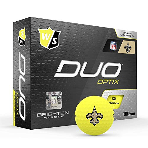 Wilson Duo Soft NFL Golf Balls (1 Dozen)-New Orleans,Yellow