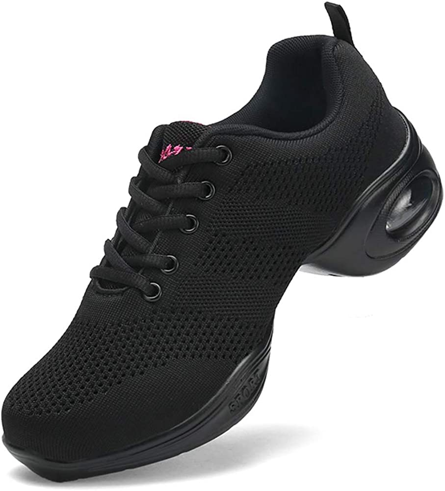 RINVEKA Women's Jazz Shoes Lace-up Sneakers - Breathable Air Cus