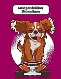 Mein persönliches Stickeralbum: Skateboard Hund Mädchen Motiv |...