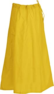 Sari Petticoat Cotton Stitched Adjustable Waist Saree Underskirt Lining Skirt