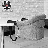 VICKI chairs Hochstuhl Baby Plus-Fach, Anhaken Booster Chair Anhängen an Schneller Tischstuhl Tragbar und Sicher (Color : C)